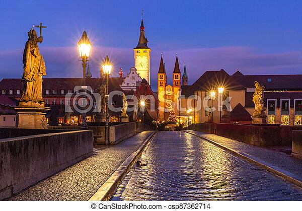 Wurzburg, Franconia, Northern Bavaria, Germany - csp87362714