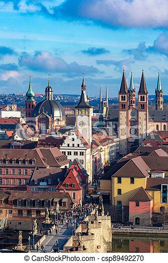 Wurzburg, Franconia, Northern Bavaria, Germany - csp89492270