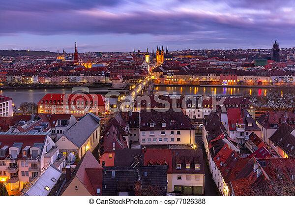 Wurzburg, Franconia, Northern Bavaria, Germany - csp77026388