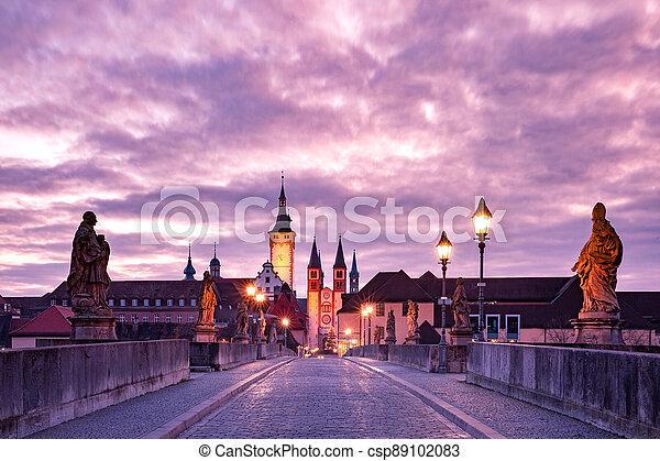 Wurzburg, Franconia, Northern Bavaria, Germany - csp89102083