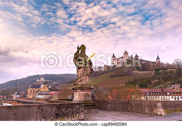 Wurzburg, Franconia, Northern Bavaria, Germany - csp89492084