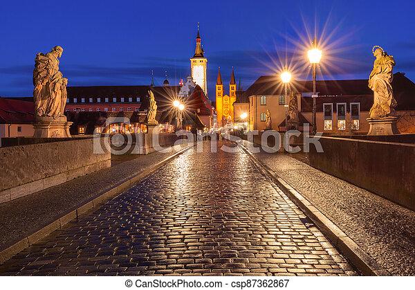 Wurzburg, Franconia, Northern Bavaria, Germany - csp87362867