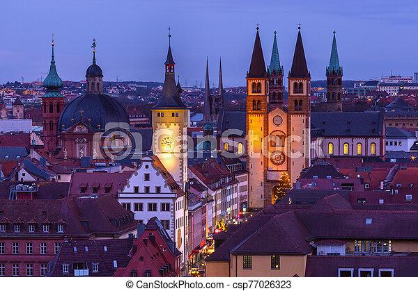 Wurzburg, Franconia, Northern Bavaria, Germany - csp77026323