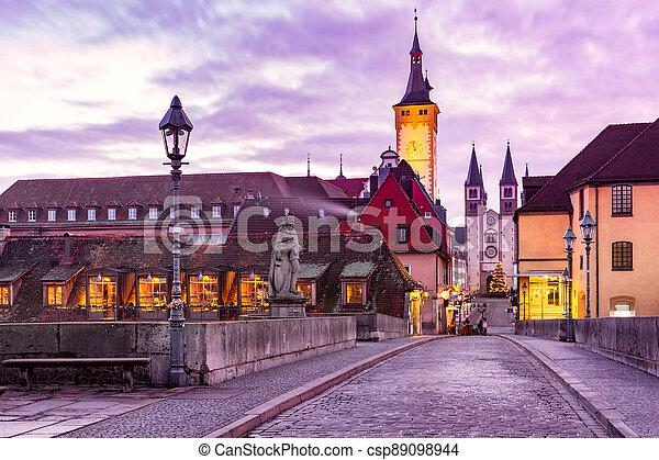 Wurzburg, Franconia, Northern Bavaria, Germany - csp89098944