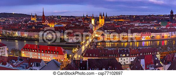 Wurzburg, Franconia, Northern Bavaria, Germany - csp77102697