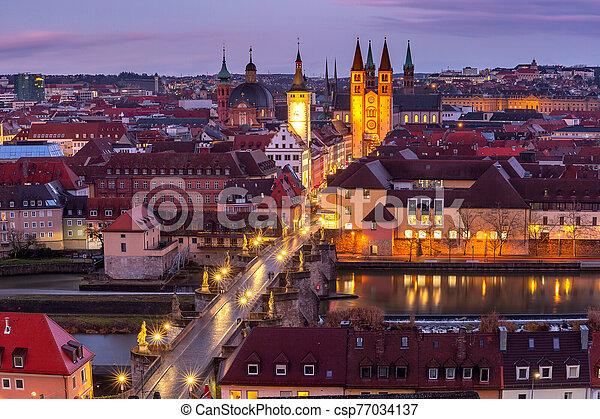 Wurzburg, Franconia, Northern Bavaria, Germany - csp77034137