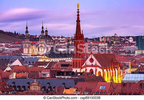 Wurzburg, Franconia, Northern Bavaria, Germany - csp89100038