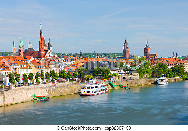 Wurzburg in a sunny summer day - csp32367139