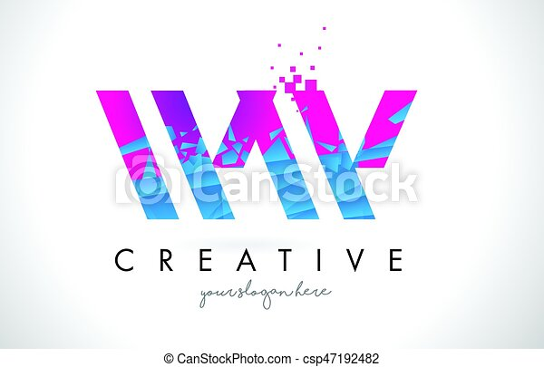 Ww w letter logo with shattered broken blue pink texture design ww w letter logo with shattered broken blue pink texture design vector altavistaventures Choice Image