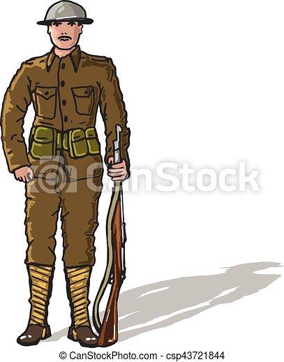 WW1soldierMarineSketch eps
