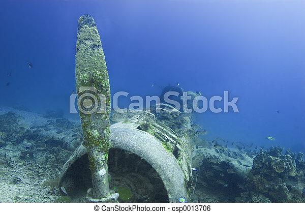 WW2 torpedo bomber - csp0013706