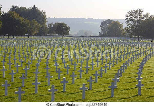 WWII American Soldiers' Graves - csp22749649