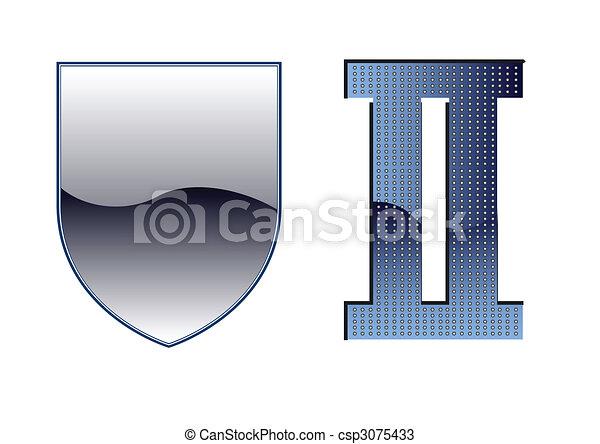 wwii, emblème, bouclier, gabarit, | - csp3075433