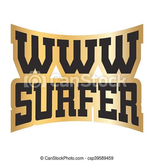 hot sale online ba8d4 7f0b5 www, gold, internet, typographie, surfer, grafik