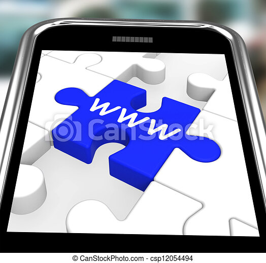 WWW On Smartphone Showing Internet Browsing - csp12054494
