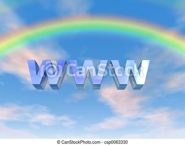 WWW Rainbow - csp0063330