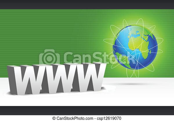 WWW with Globe - csp12619070