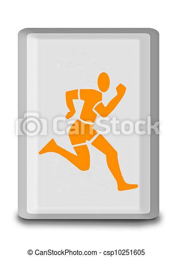 wyścigi, biały, odizolowany, tło, znak - csp10251605