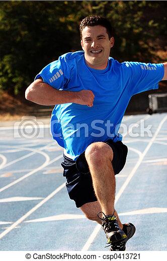 wyścigi, człowiek - csp0413721