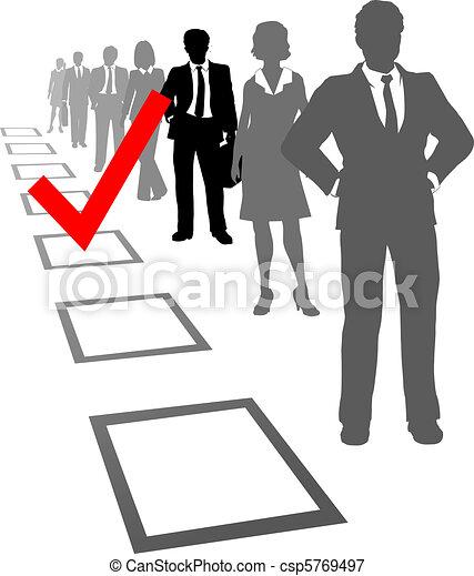 wybierać, zasoby, ludzie handlowe, typować, boks - csp5769497