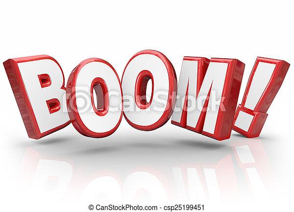 wybuchowy, zbyt, ulepszenie, wzrastać, wzrost, bariera, słowo, 3d, ekonomia - csp25199451