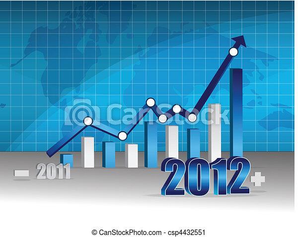 wykres, -, handlowy, powodzenie - csp4432551