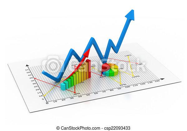 wykres, handlowy - csp22093433