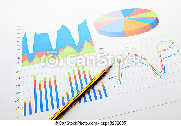 wykresy, dane, wykres, analiza - csp18202605