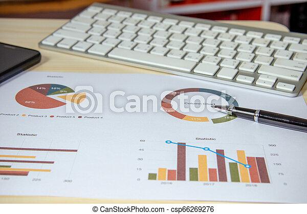 wykresy, handlowy, analiza - csp66269276