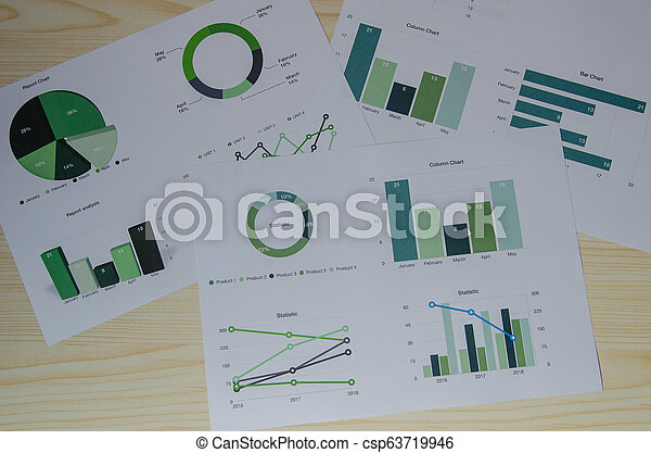 wykresy, handlowy, analiza - csp63719946