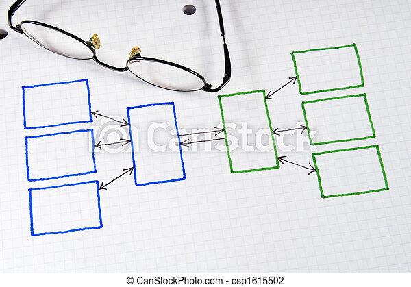 wykresy, wykresy, handlowy, & - csp1615502