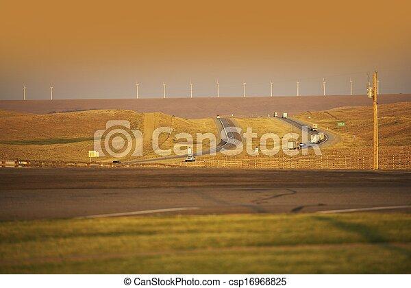 Wyoming Highway I-80 - csp16968825