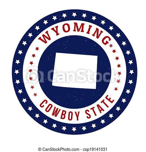 Wyoming stamp - csp19141031