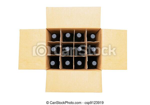 wypadek, butelki, wino - csp9123919