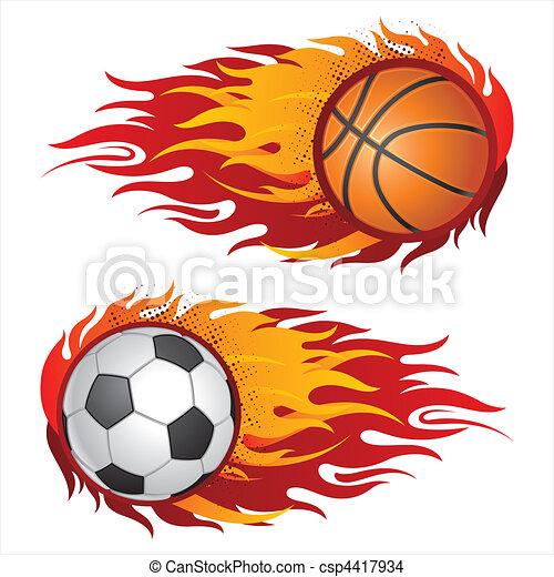wyposażenie, płomienie, lekkoatletyka - csp4417934