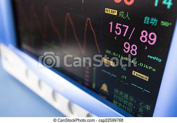 wyposażenie, zdrowie, obserwacja, przenośny, troska - csp22599768