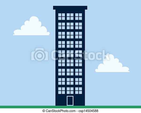 wysoki, apartament budowa - csp14504588