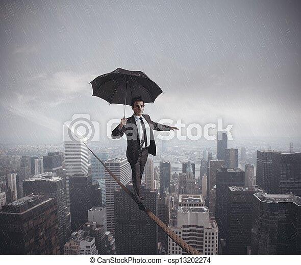 wyzwania, życie, ryzyka, handlowy - csp13202274