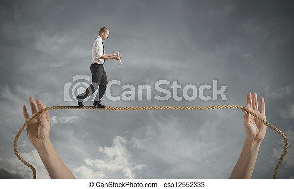 wyzwania, życie, ryzyka, handlowy - csp12552333