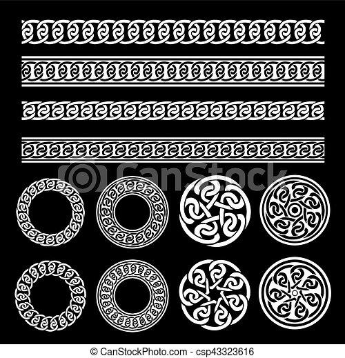 Wzory Celtycki Komplet Dzwoni Brzegi