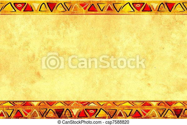 wzory, krajowy, afrykanin - csp7588820