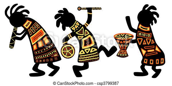 wzory, krajowy, afrykanin - csp3799387