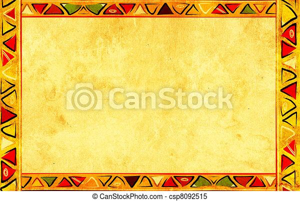 wzory, krajowy, afrykanin - csp8092515