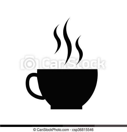 xícara café desenho ilustração ícone