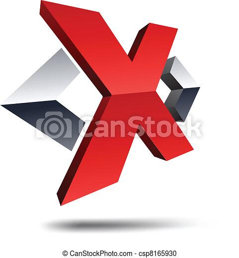 x, 3d, letter. - csp8165930