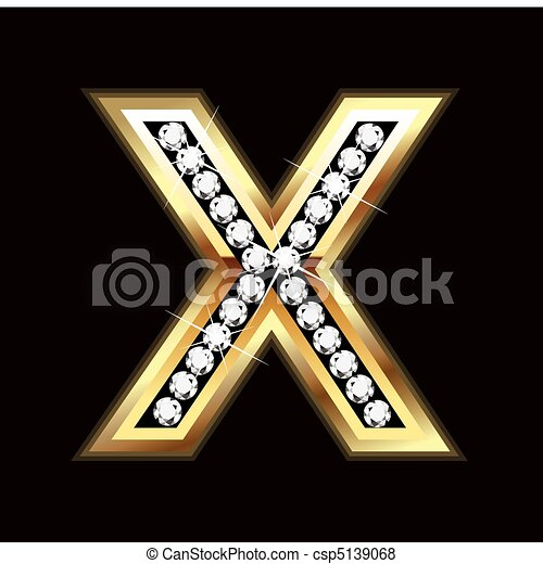 x bling letter - csp5139068