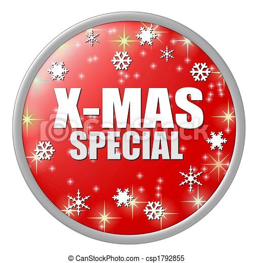 x-mas special button - csp1792855