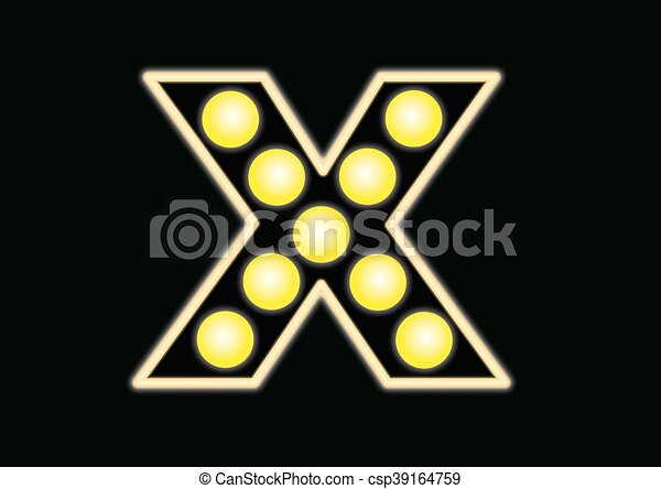 X neon sign - csp39164759