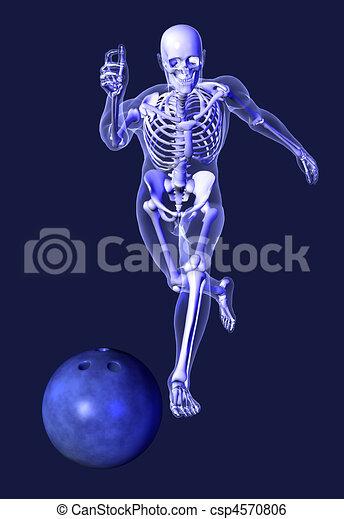 X-ray Skeleton - Bowling - csp4570806