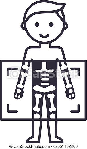 x ray medical diagnostics man vector line icon sign vector rh canstockphoto com free x ray clipart x ray clip art free